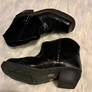 Ariat 4LR Crocodile Suede Fat Baby Boots, Size 8B